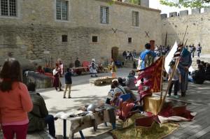 Reconstitution XIIIème siècle, au Château Comtal de Carcassonne
