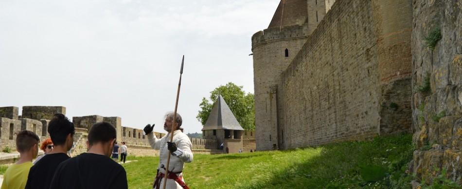 Découvrir la Cité de Carcassonne avec notre chevalier