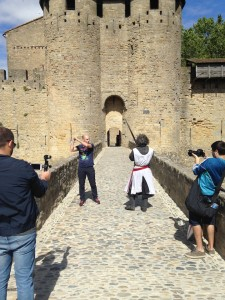 ESPN, tournage pour Carcassonne