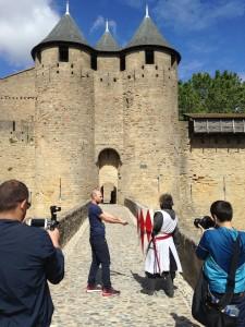Leçon d'escrime médiévale pour ESPN, Carcassonne