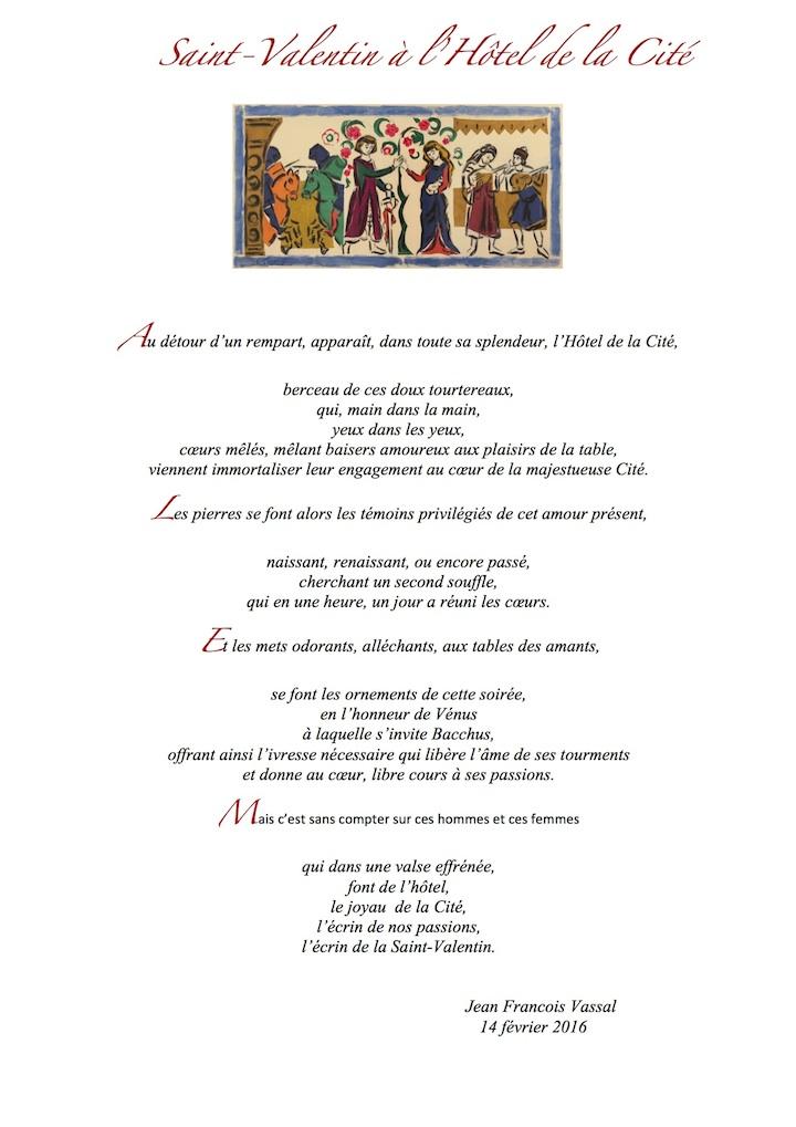Poème de Jean-François Vassal pour la Saint Valentin 2016